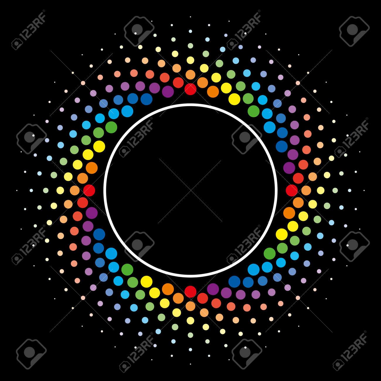 Elemento De Semitono Colorido Del Diseño Del Vector Del Marco Del ...