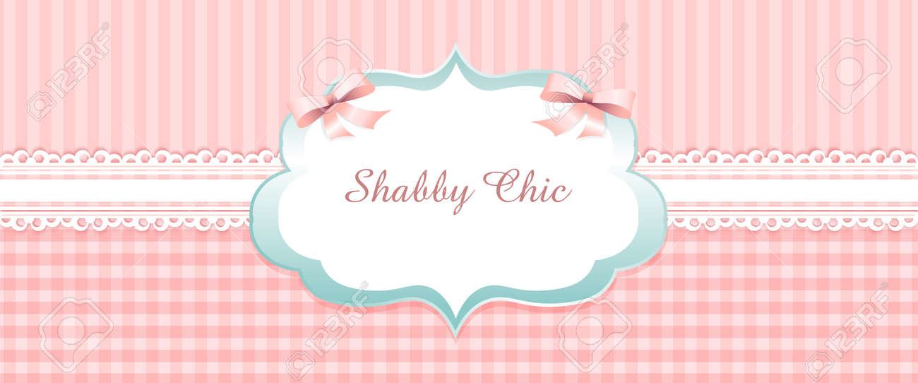 Shabby Chic Congratulations Card Template For Wedding Invitation Classic Romantic Style Pink