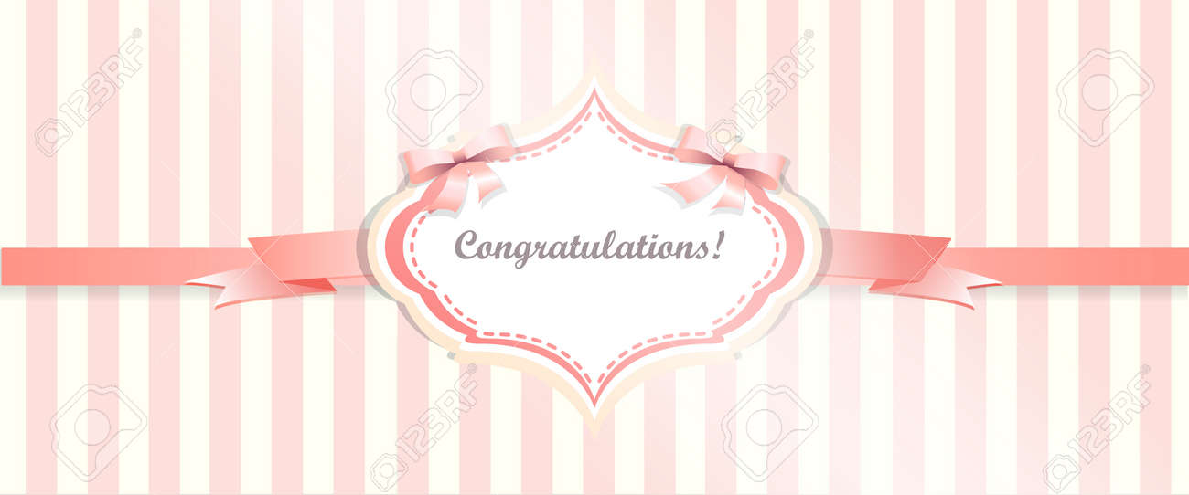 Congratulations Card Template. Greeting Card Template Vector By