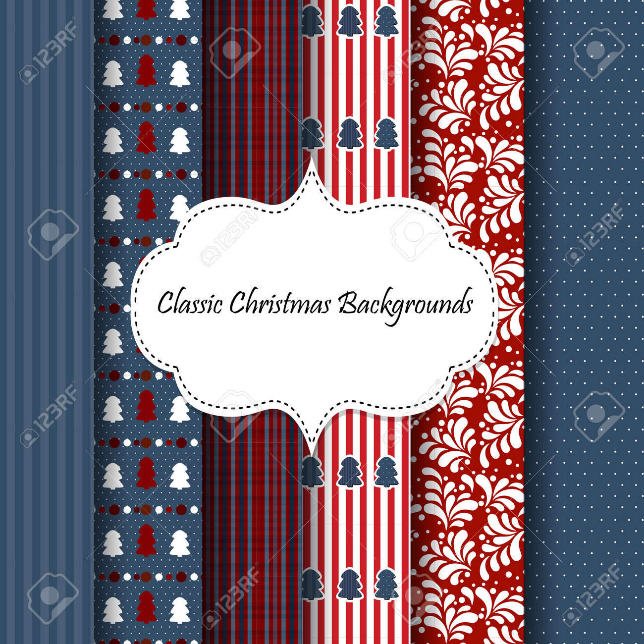 set of abstract new year or christmas theme backgrounds