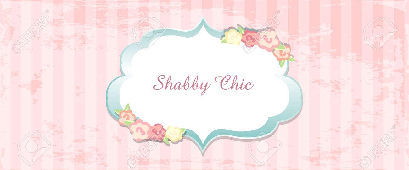 Shabby Chic Congratulations Card Template For Wedding Invitaion Classic Romantic Style Stock Vector