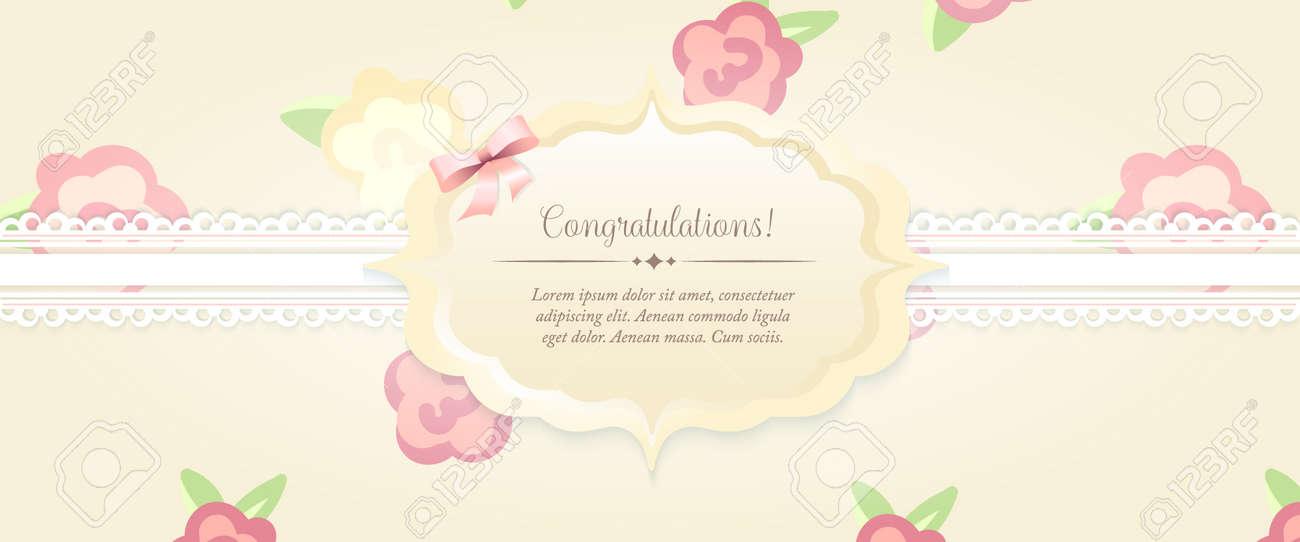 Tarjeta De Invitación Matrimonio. Invitación De La Boda Elegante ...