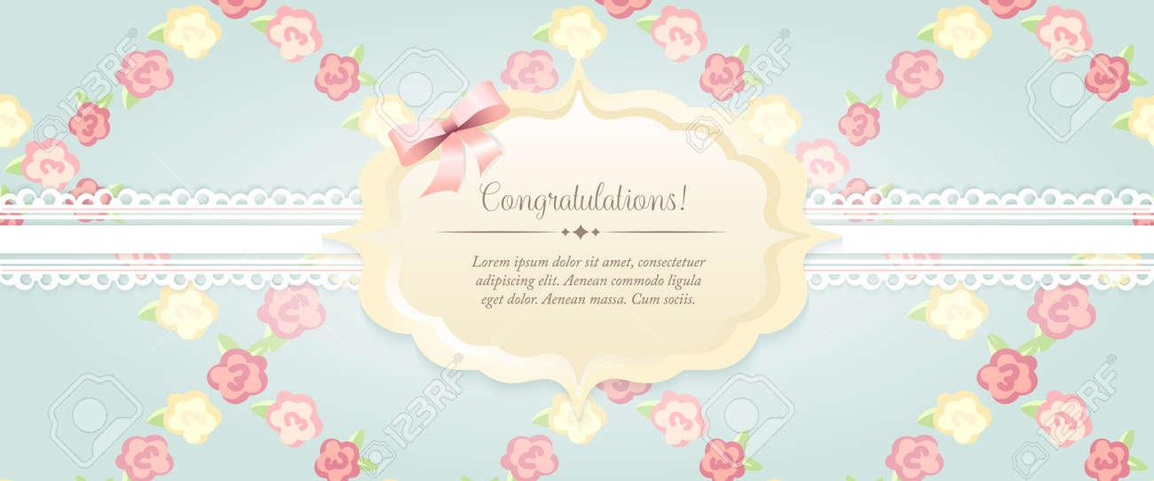Marriage Invitation Card Shabby Chic Wedding Invitation Floral