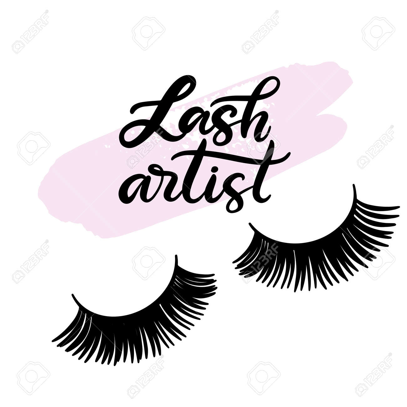 31f8eb1813d Lashes lettering vector illustration for beauty salon, fashion blog, logo,  false eyelashes extensions