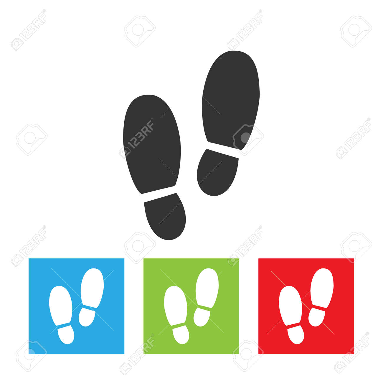 Man footprints icon. Simple logo of footprints isolated on white background. Flat vector illustration. - 110559457