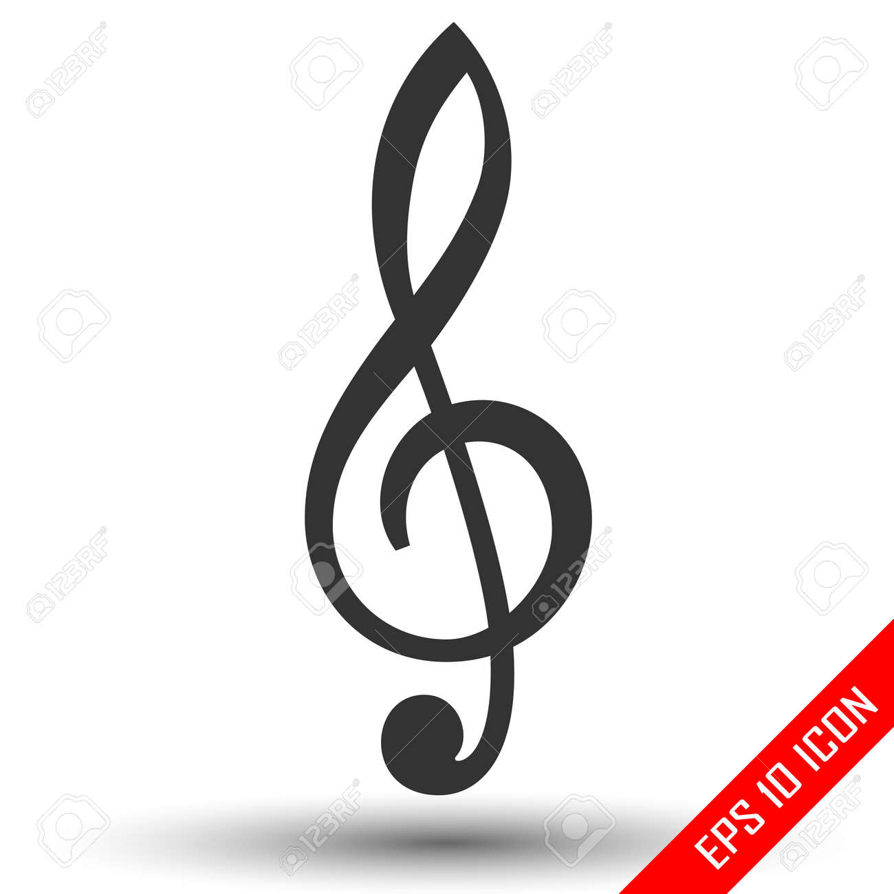 Vector Icons Set Music Note. Vector Illustration Stock Vector -  Illustration of clipart, reflection: 131094166
