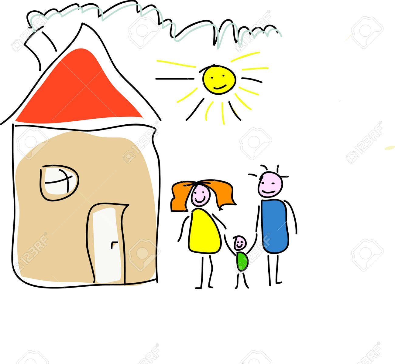 Image result for kids house drawings