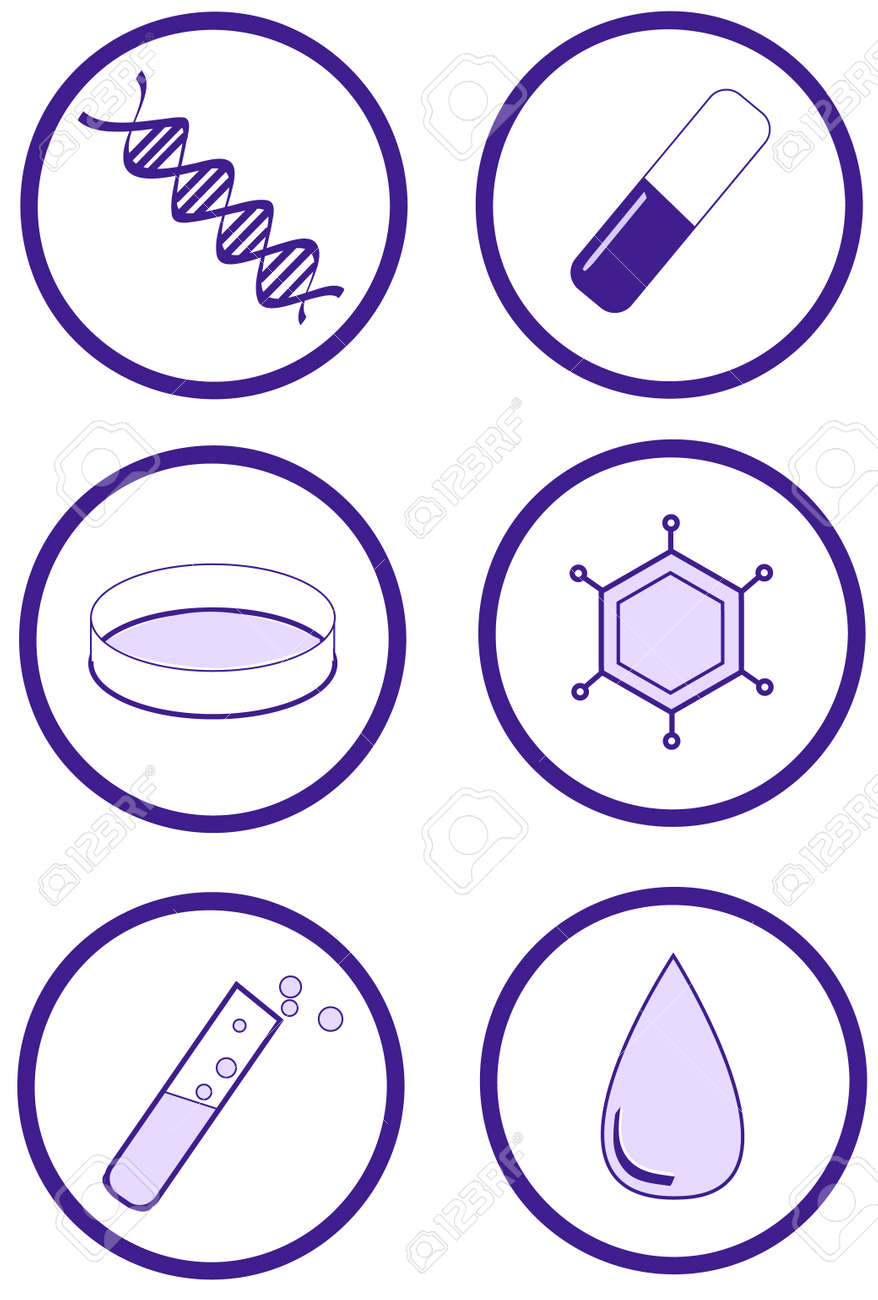 Clinical health and laboratory research item set Stock Vector - 8937868