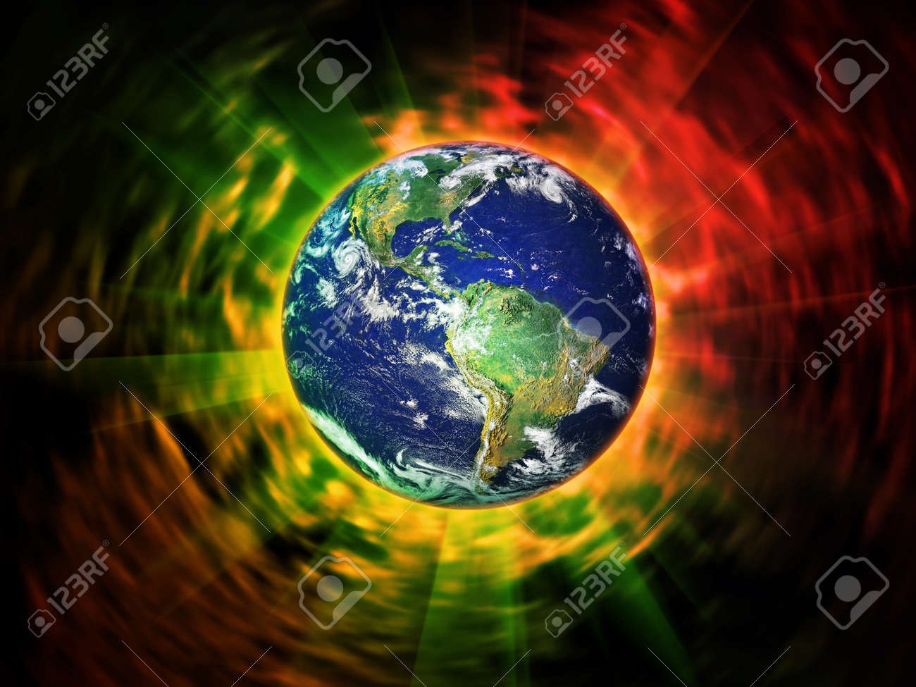 earth in space Stock Photo - 8462018