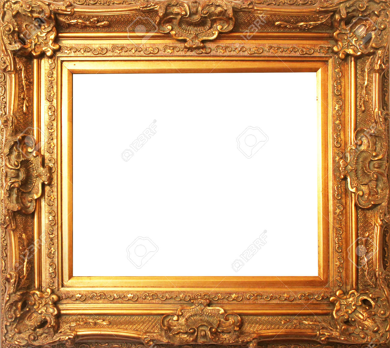 stock photo old antique gold frame