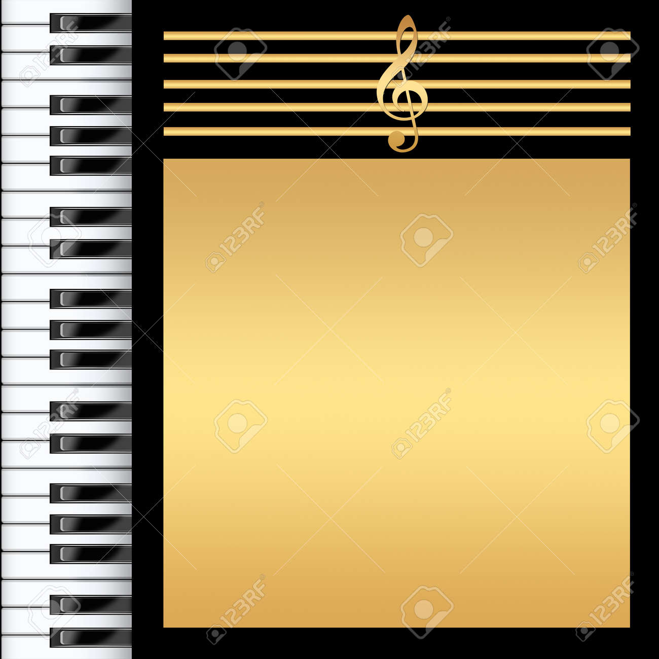 Piano Black Background Piano Keyboard Black And Gold