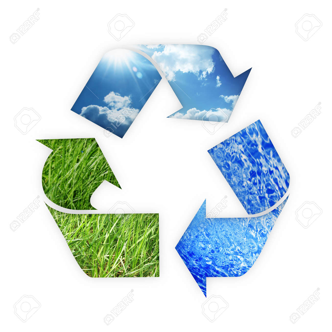 recycle Three arrows Stock Photo - 14414260