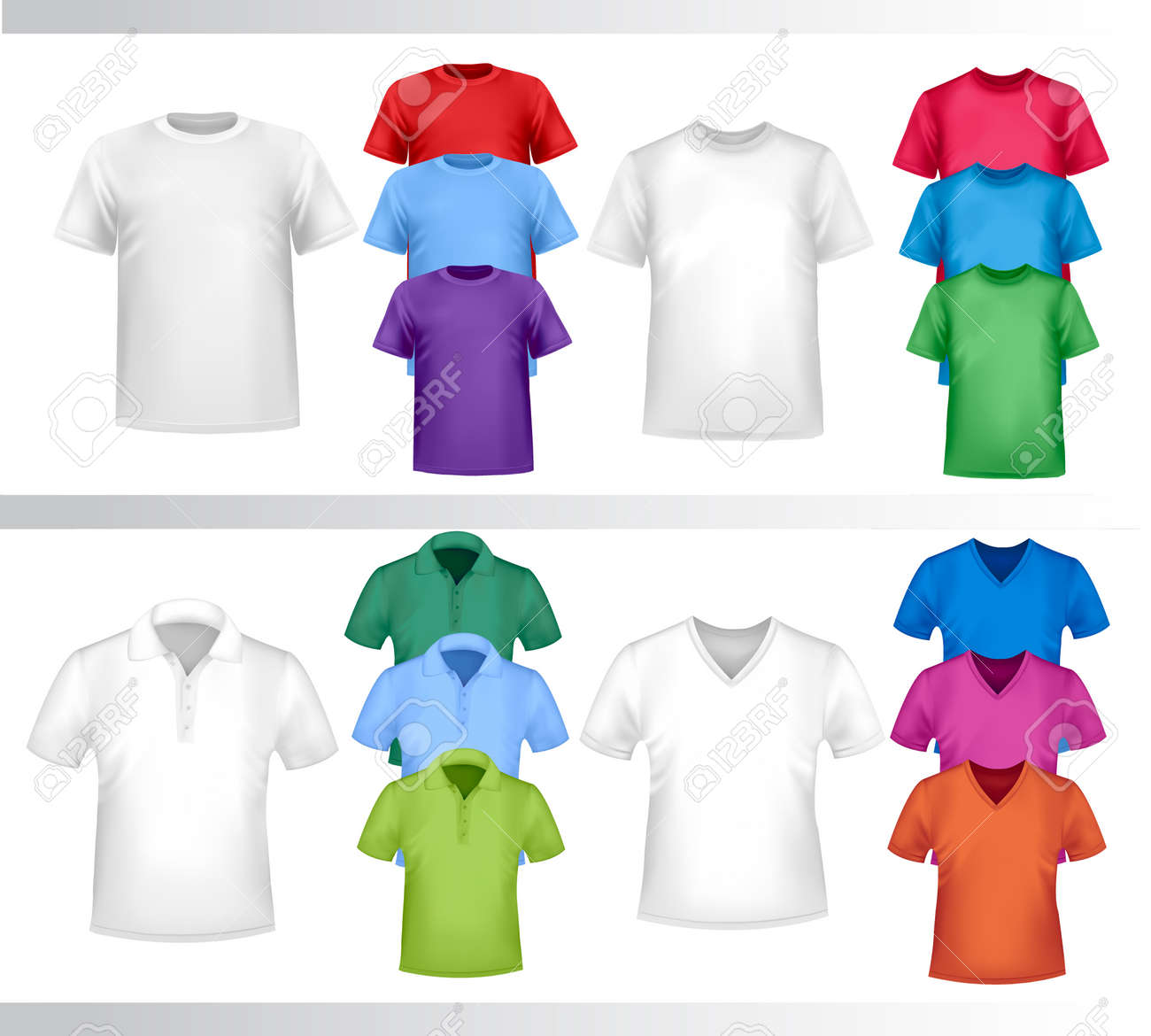 Design set of shirts Stock Vector - 8709077