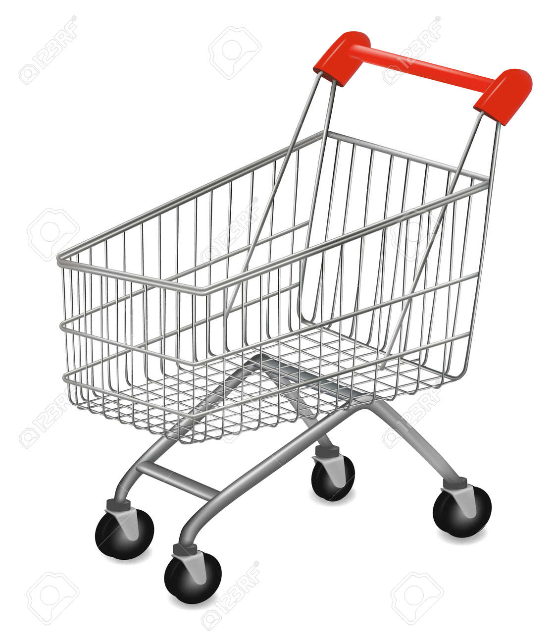 illustration of a shopping cart on the white - 8791713