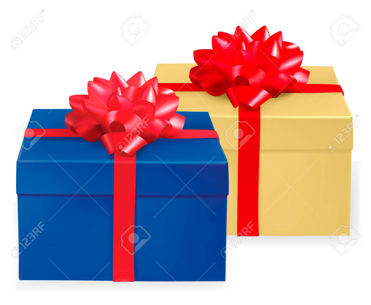 Background with gift boxes . Vector. Stock Vector - 8898353