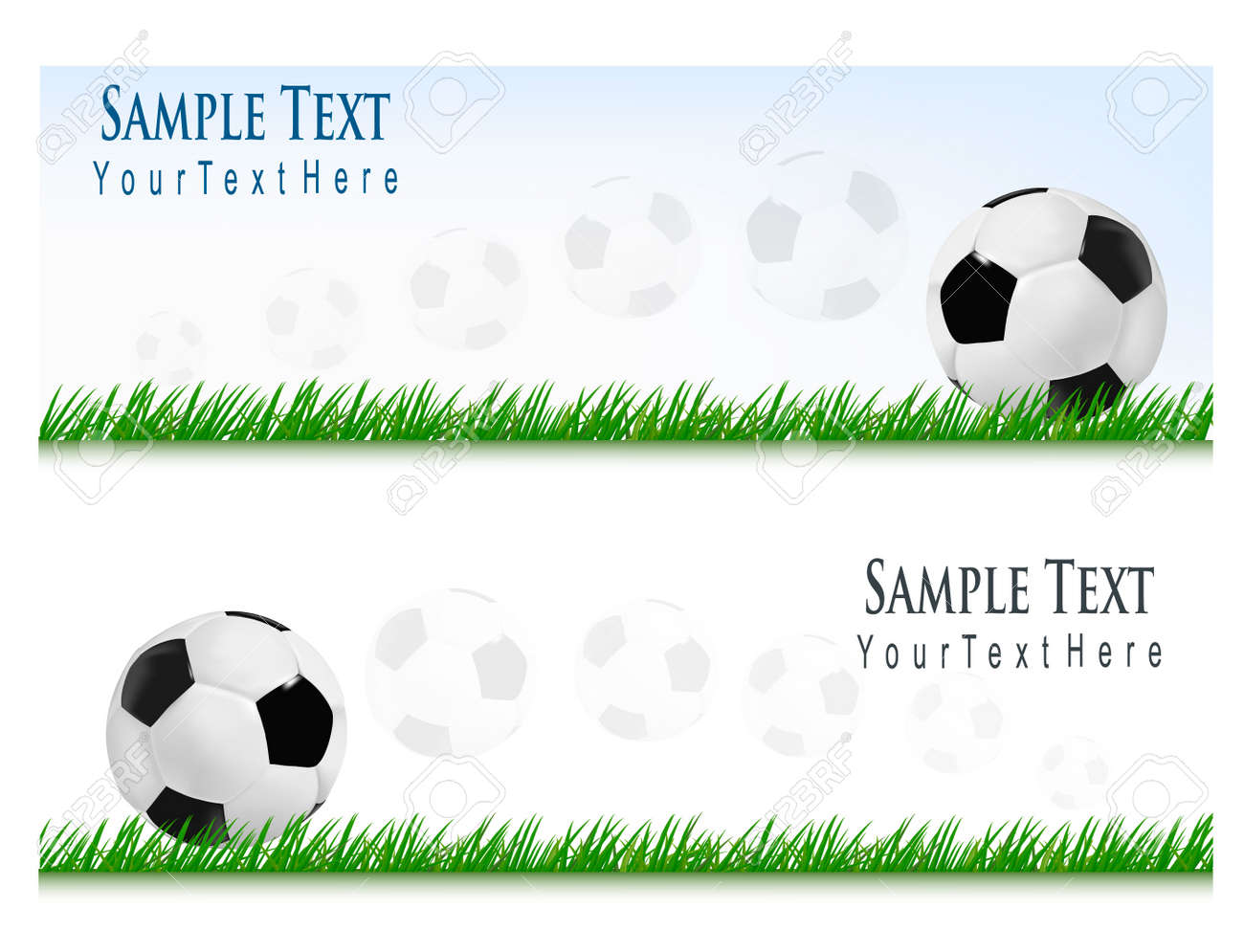 Two football backgrounds. Vector Stock Vector - 8898457