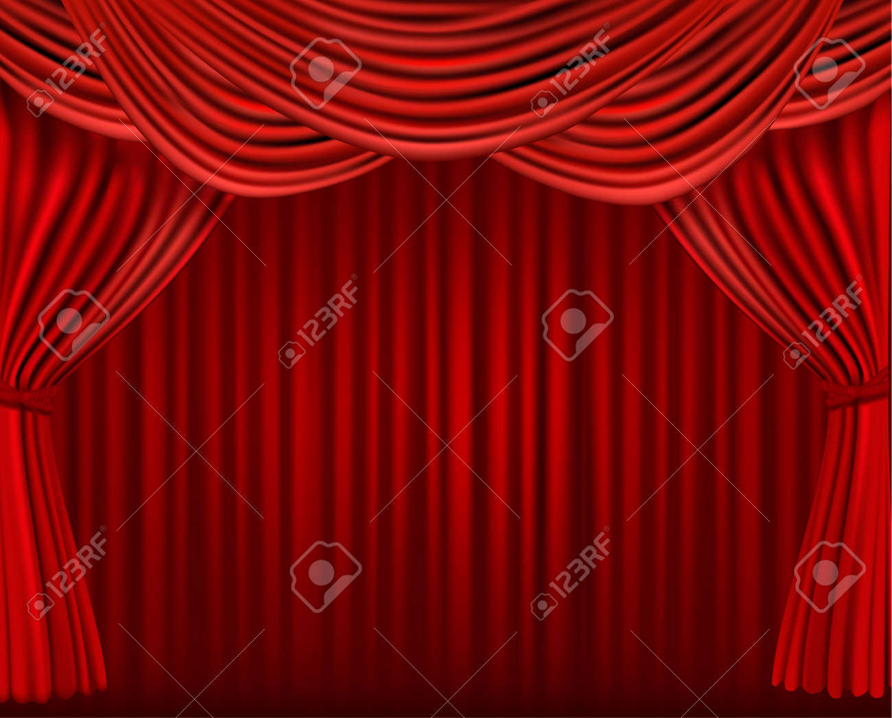 Red velvet curtain wallpaper - Movie Wallpaper Background With Red Velvet Curtain Illustration