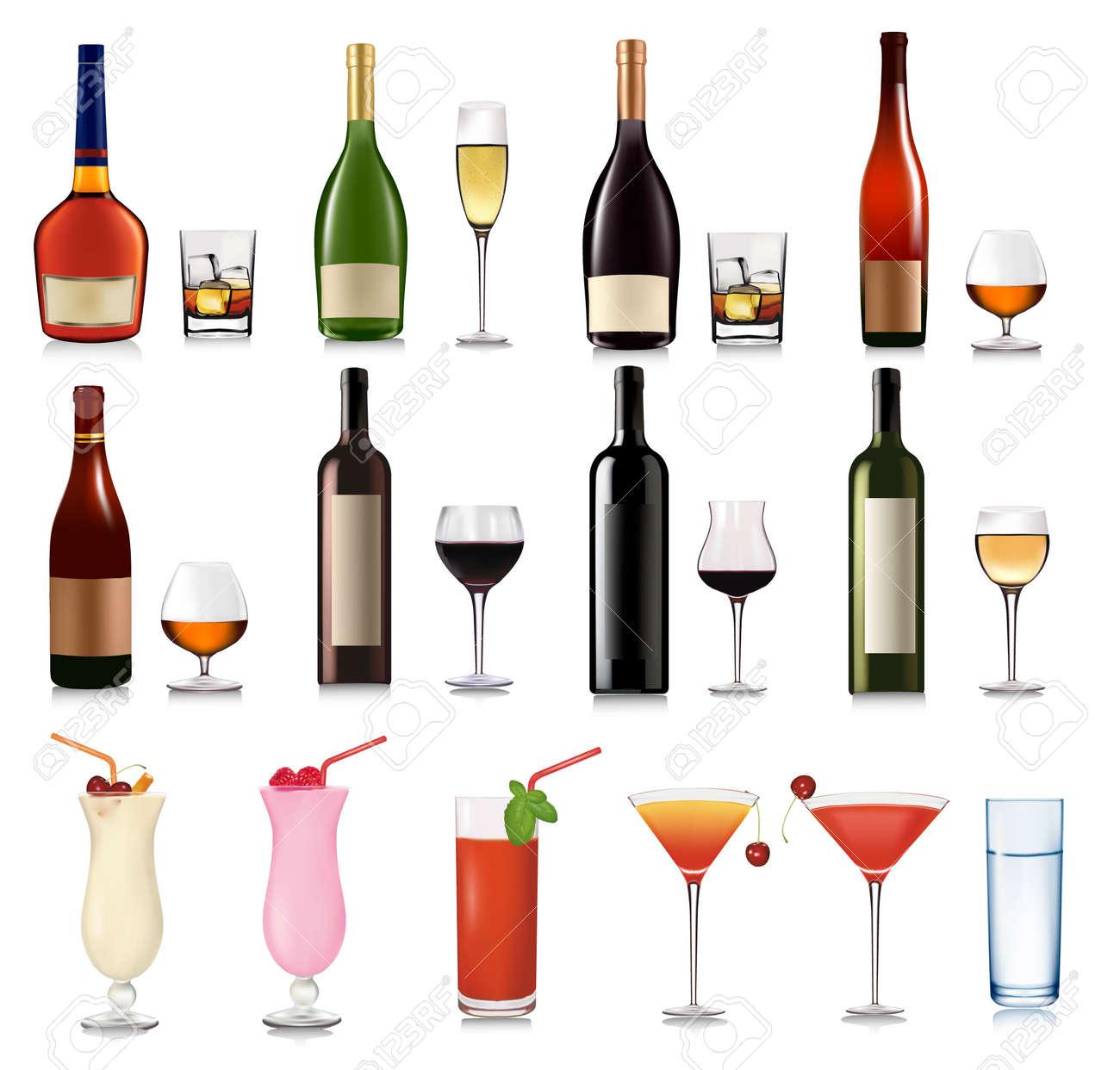 Big set of drinks. Vector. Stock Vector - 9108499