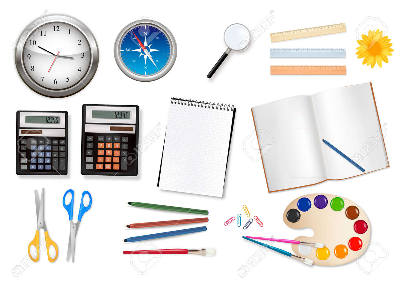 School supplies. Vector. Stock Vector - 9108911