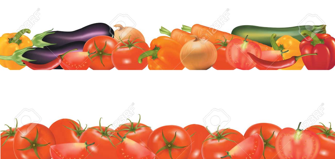 Vegetable garden border clipart vegetable garden border - Vegetable Vector Vegetable Design Border Isolated On White Vector