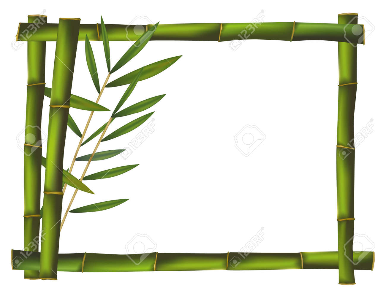 Grüner Bambus Rahmen Gebaut Rührt. Vektor. Lizenzfrei Nutzbare ...