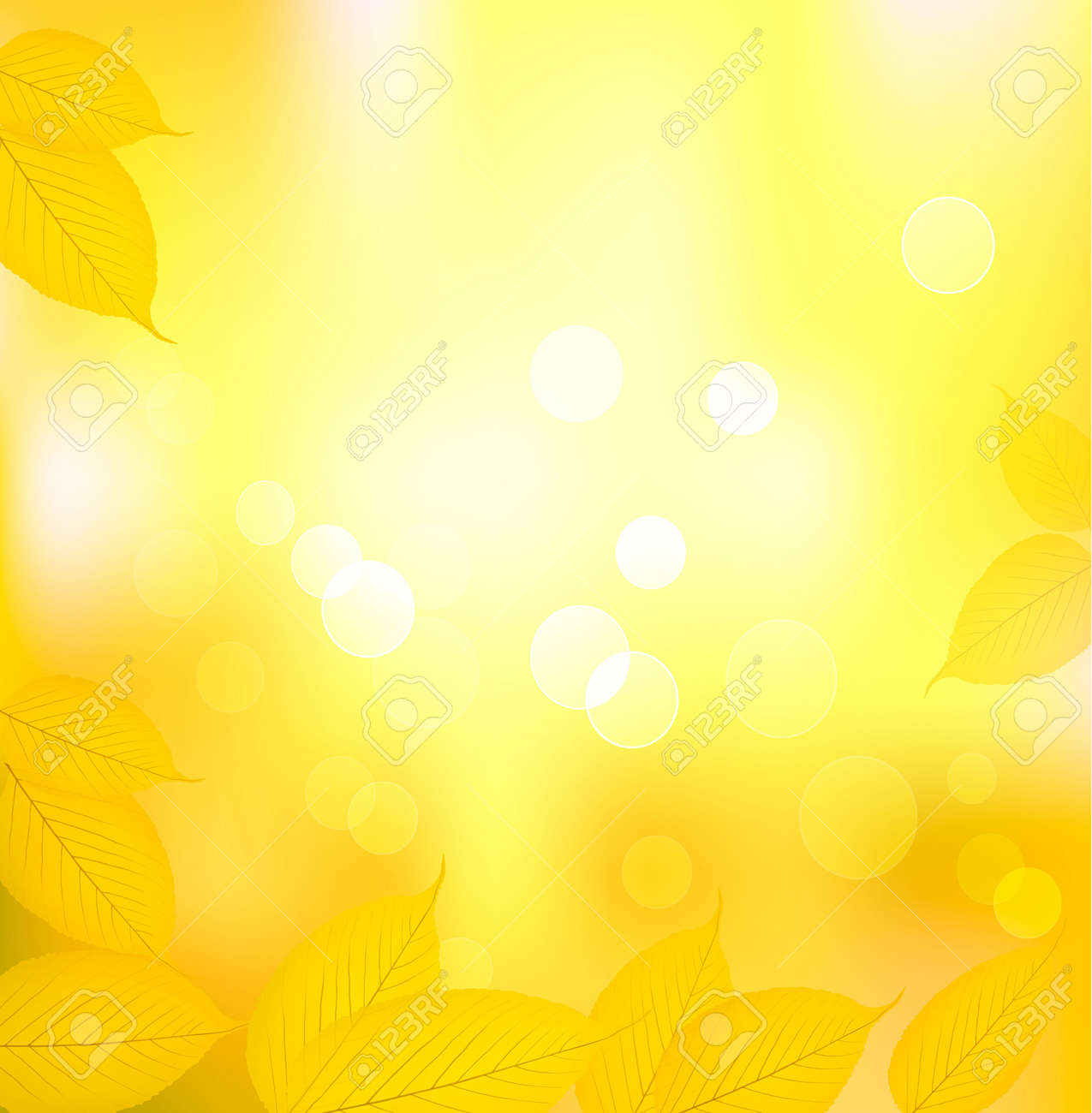 Autumn background with yellow leaves. Back to school. Vector illustration Stock Vector - 10205190