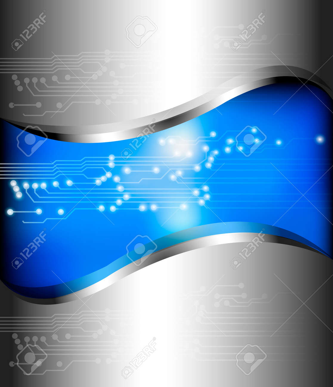 Abstract background with circuit map. Vector illustration. Stock Vector - 10205191
