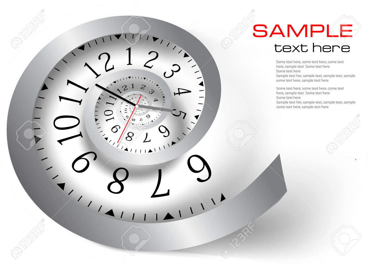 Infinity time. Vector illustration Stock Vector - 10699769