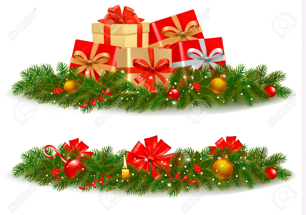 Christmas Banners Part - 45: Christmas Banners. Vector. Stock Vector - 11387350