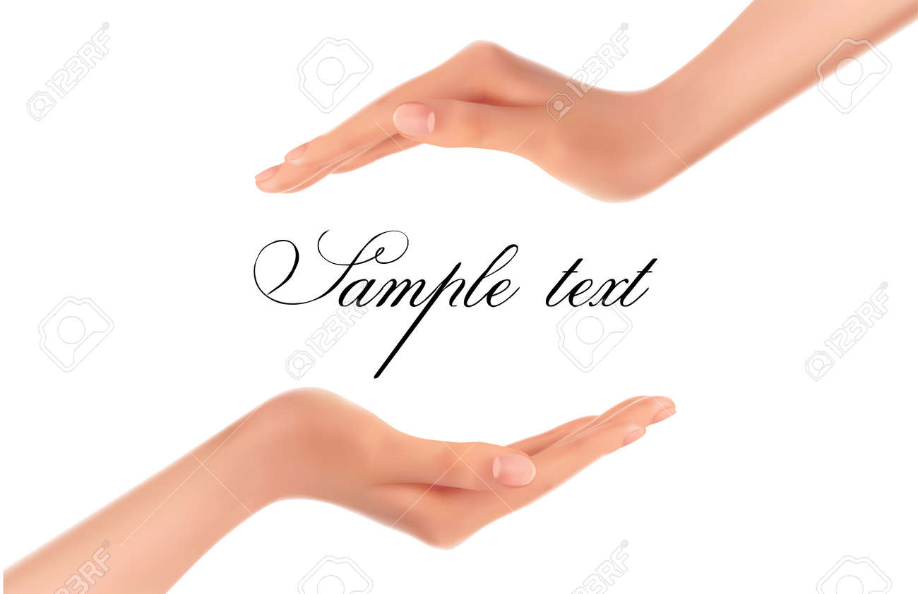 Background with two hands  Vector Stock Vector - 12346032