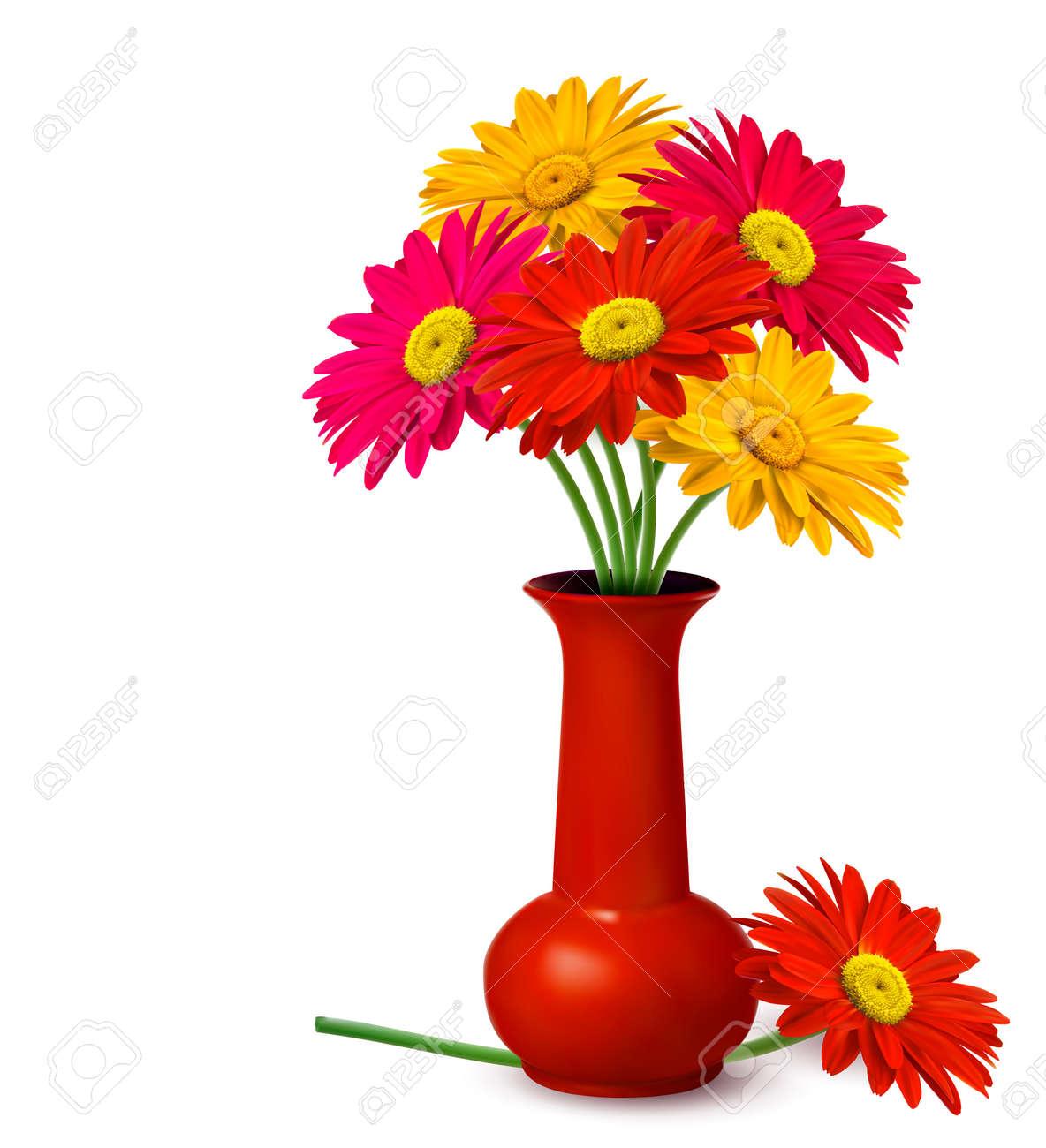 Bunch of flowers in a vase Vector Stock Vector - 12772826