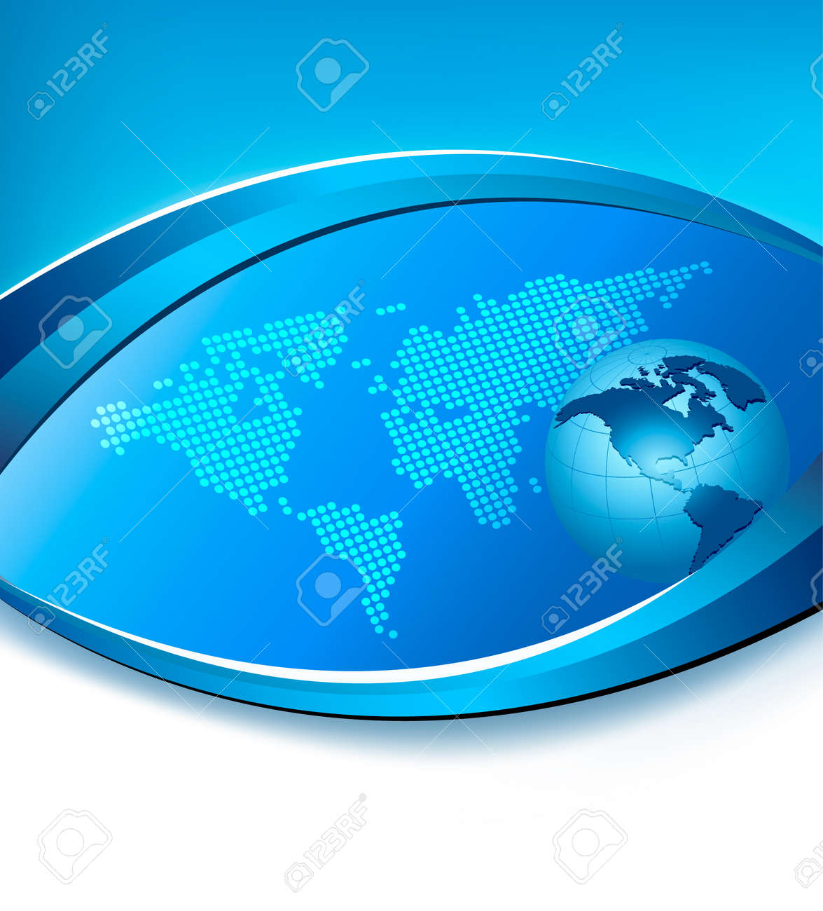 Business elegant abstract background with globe  Vector illustration Stock Vector - 13409784