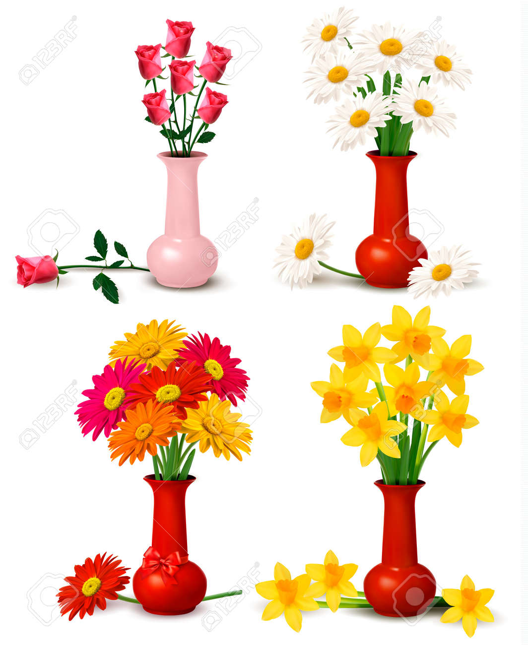Spring and summer colorful flowers in vases royalty free cliparts spring and summer colorful flowers in vases stock vector 14021490 reviewsmspy