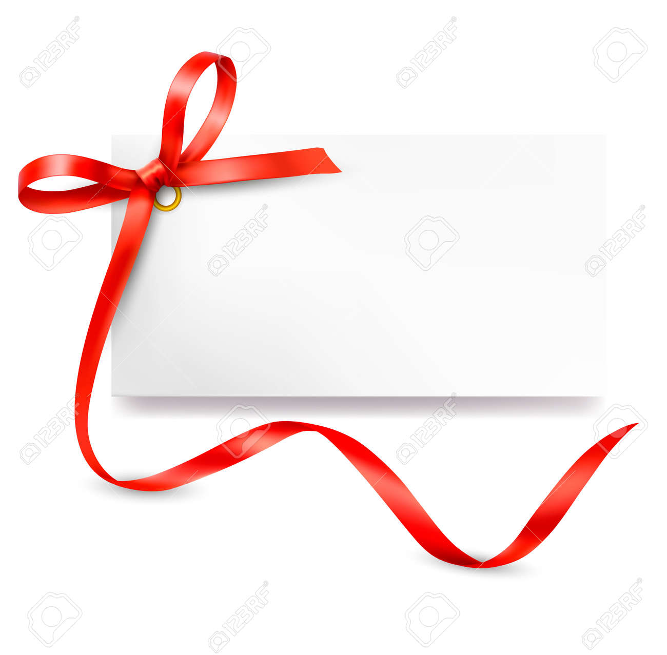 Card with red gift bow with ribbons vector card with red gift bow with ribbons vector 14356212 negle