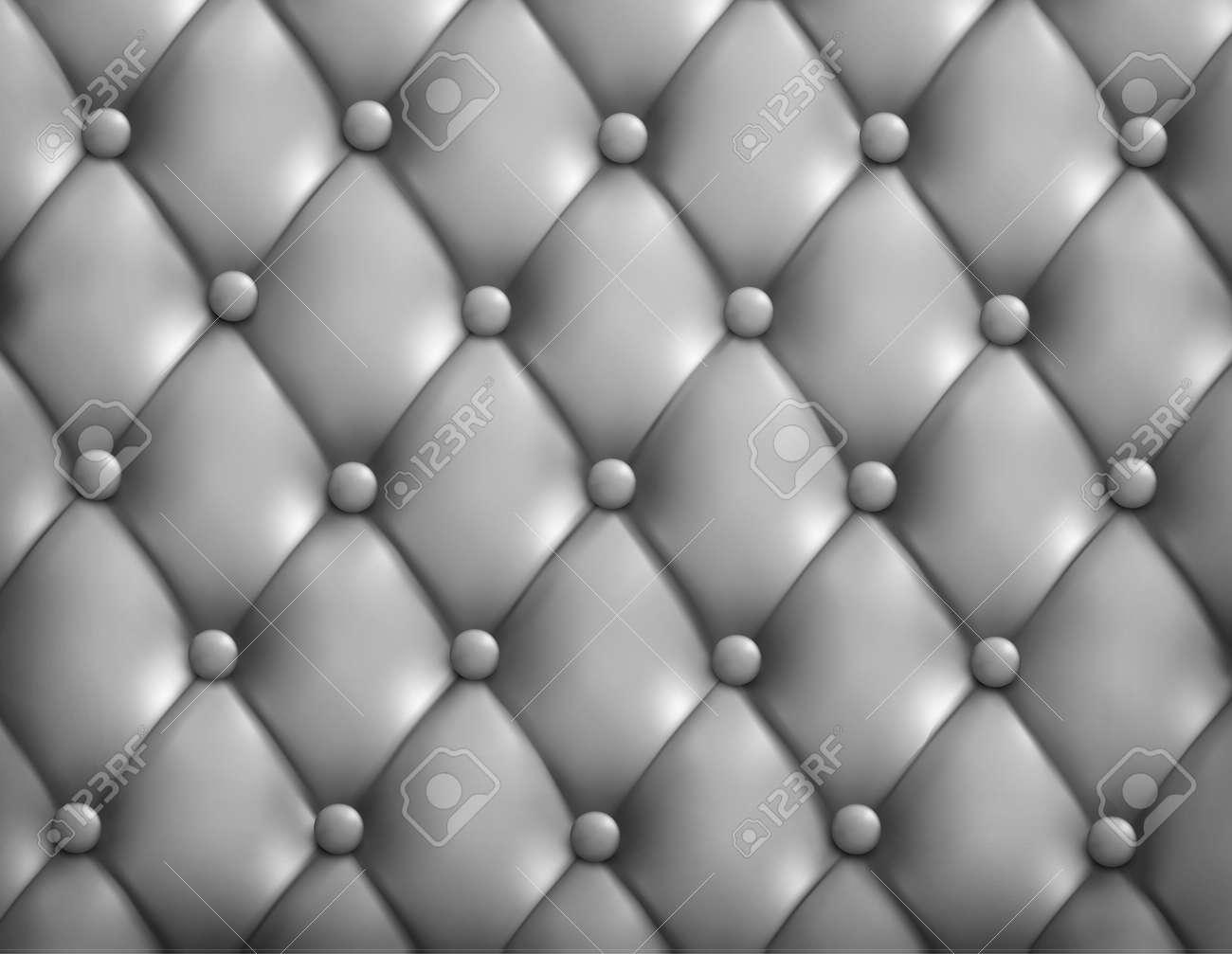 Papier Peint Capitonné Gris fond gris en cuir capitonné