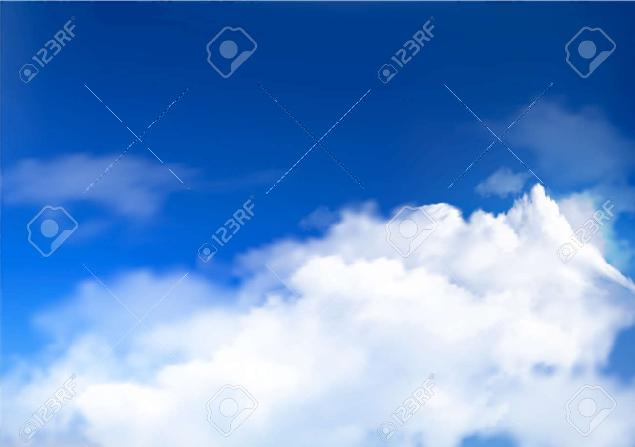 Blue sky with clouds and sun Stock Vector - 15706667