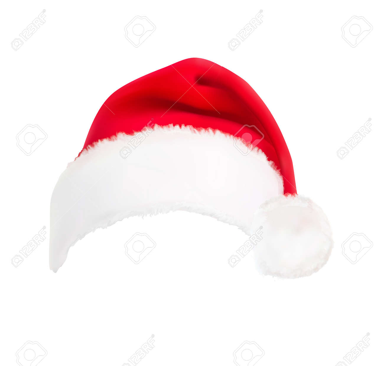 red santa hat vector royalty free cliparts vectors and stock rh 123rf com santa hat vector free santa hat vector png