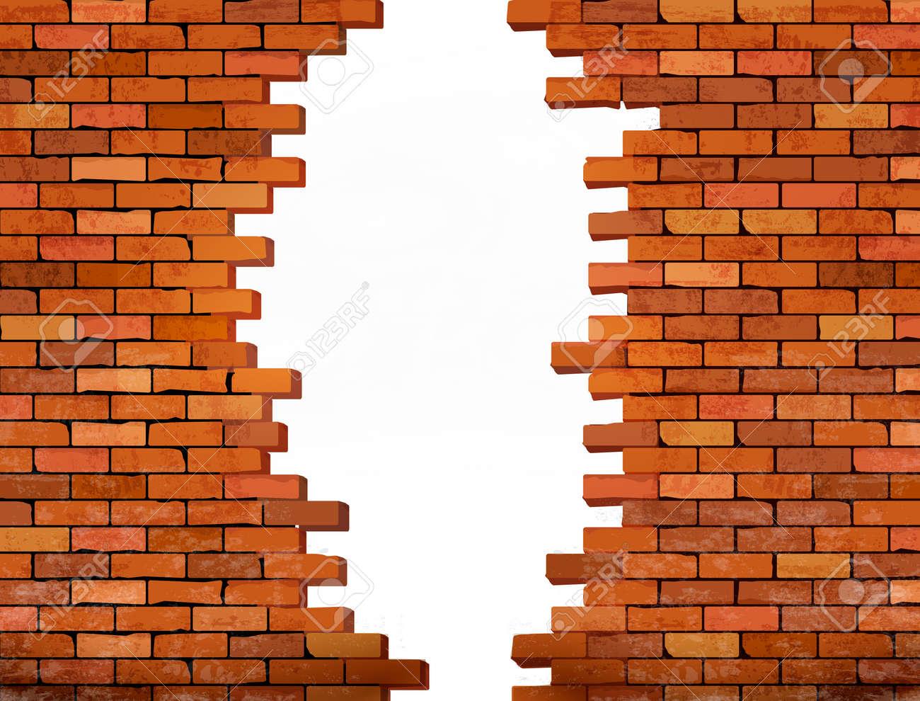 ヴィンテージのレンガの壁の穴と背景 ベクトルのイラスト素材 ベクタ