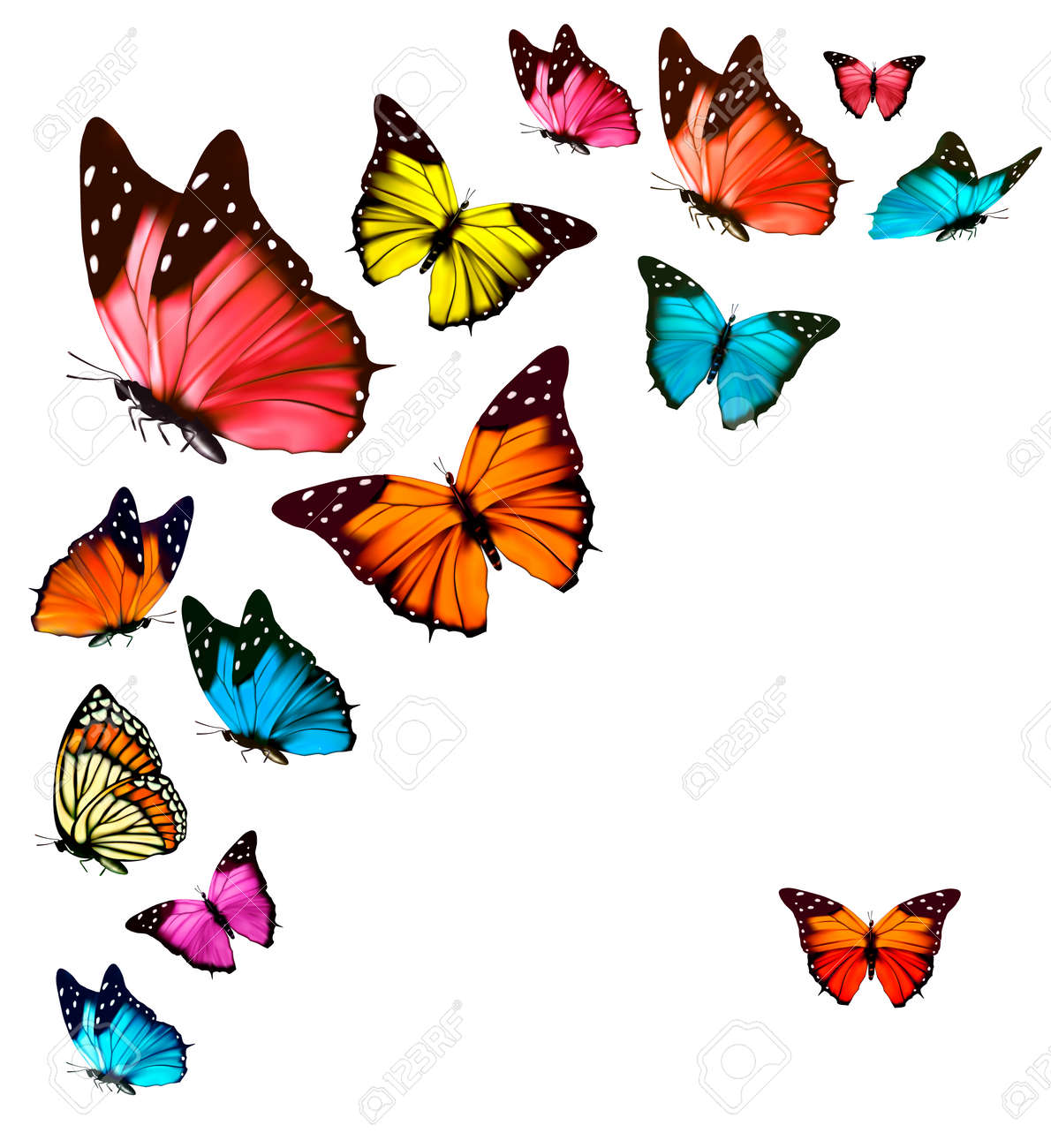 Pink butterfly vector background hd wallpapers pink butterfly vector - Background With Colorful Butterflies Vector Stock Vector 37553429