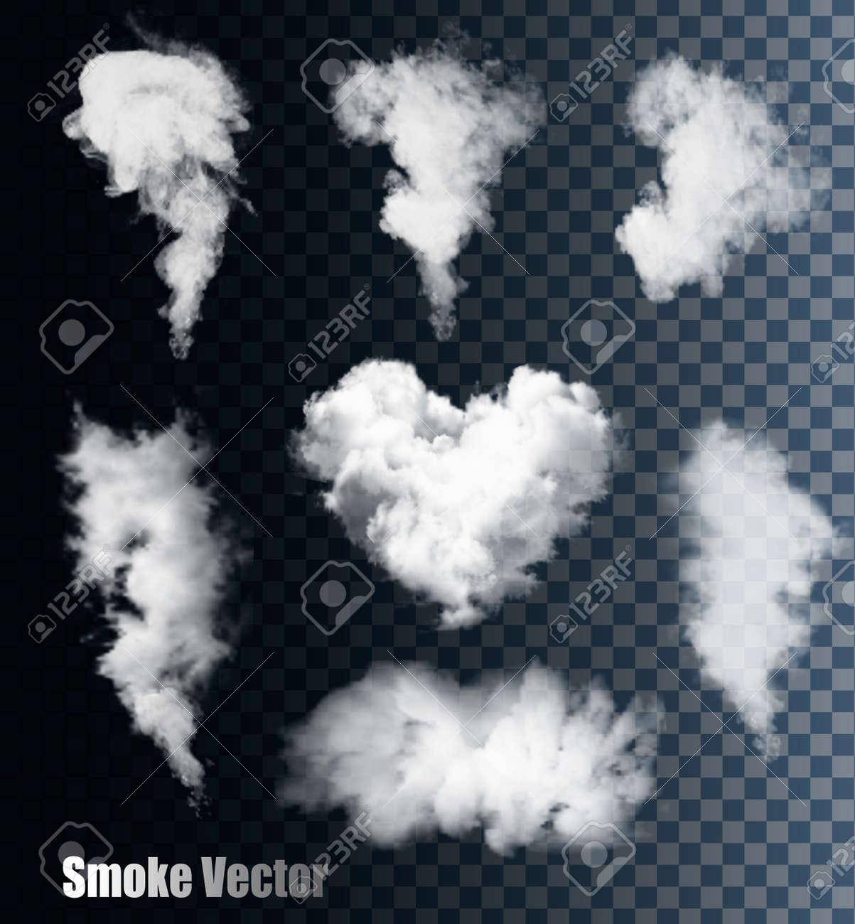 smoke vectors on transparent background stock vector 41314983