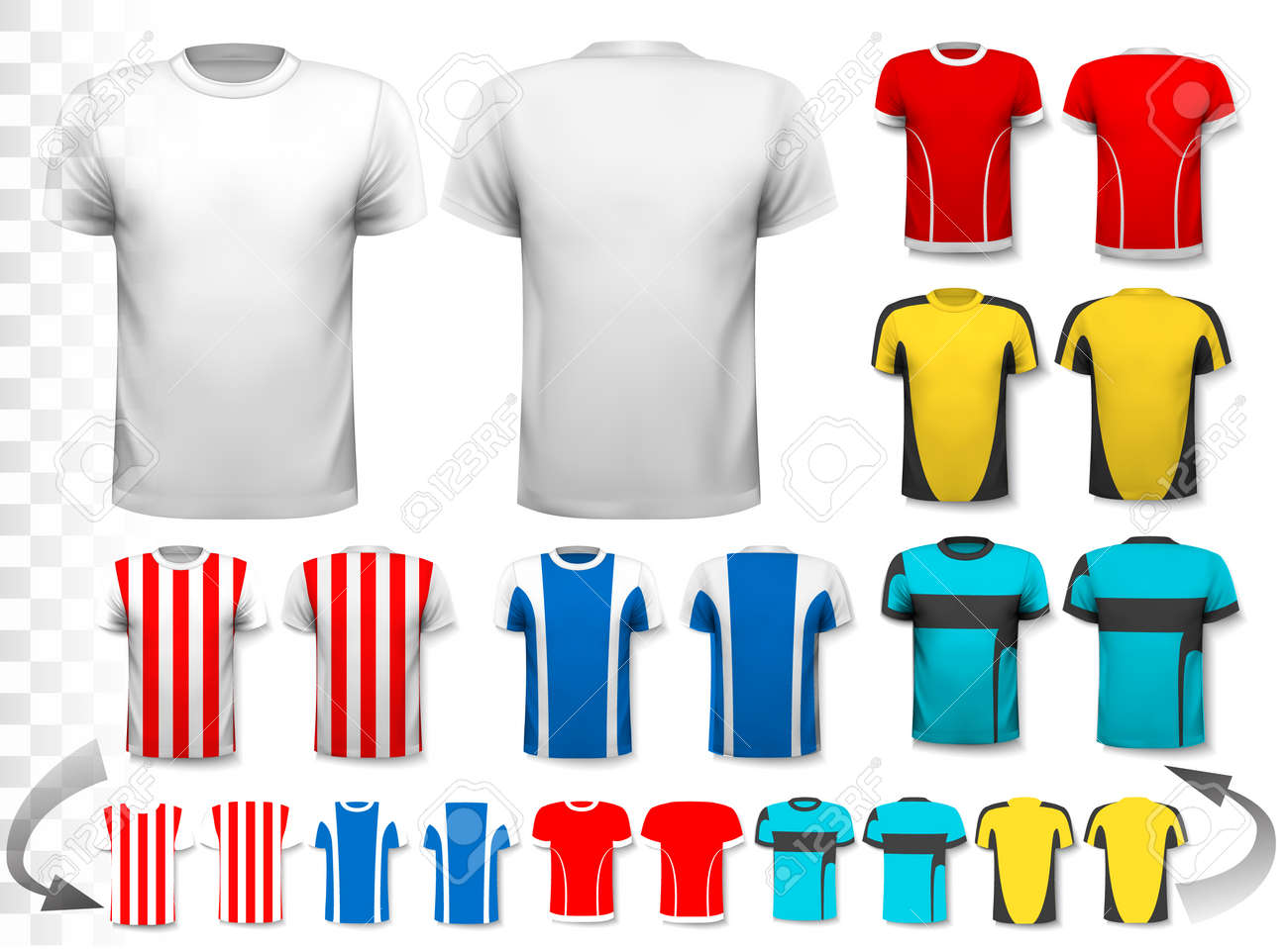 Design your own football jersey t-shirt - Collection Of Various Soccer Jerseys The T Shirt Is Transparent And Can Be Used
