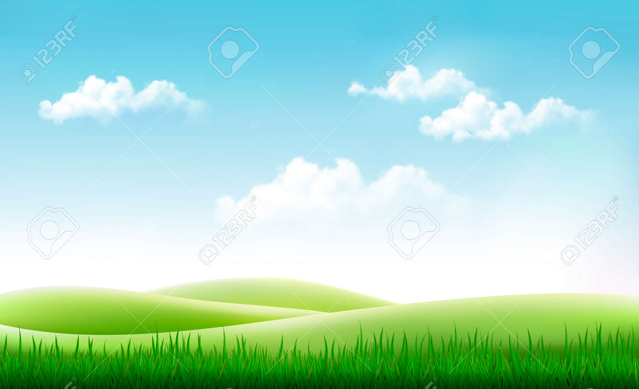 nature summer background with green grass and blue sky vector rh 123rf com sky vector 24 sky vector readouts