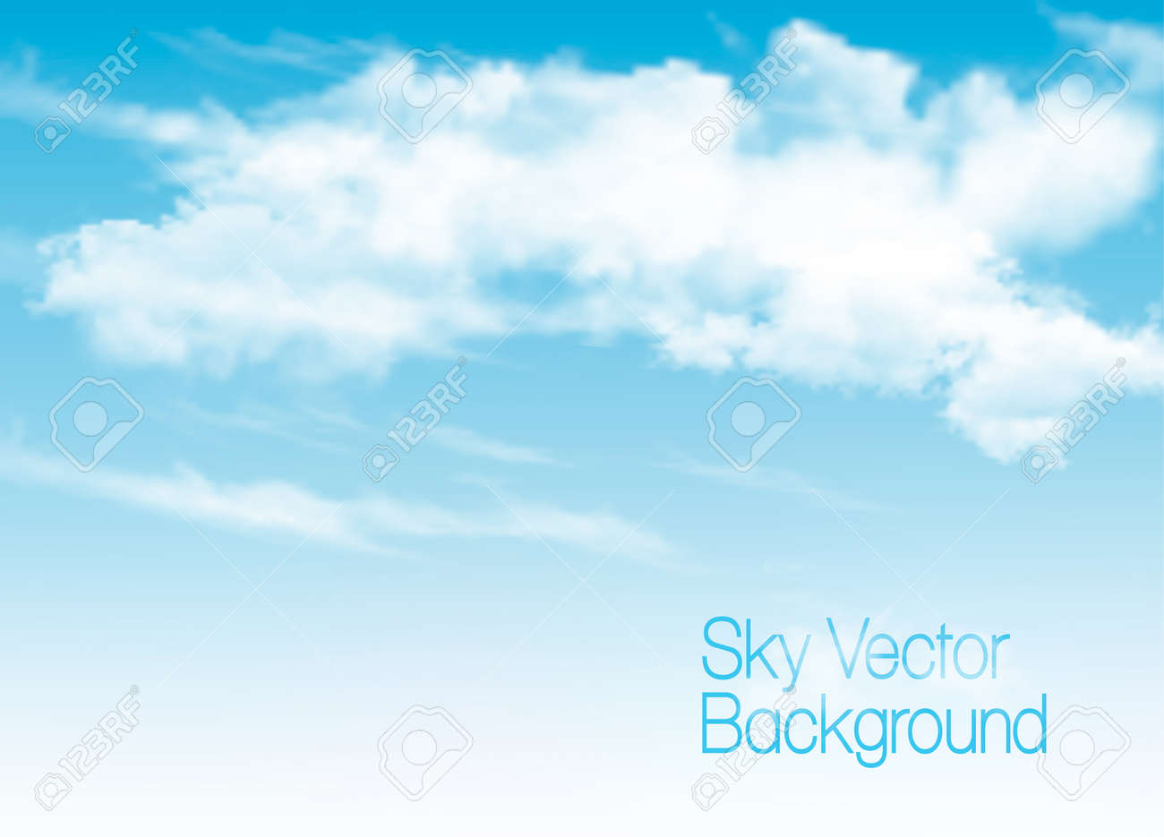 blue sky background with white transparent clouds vector background rh 123rf com cloud vector free clouds vector freepik