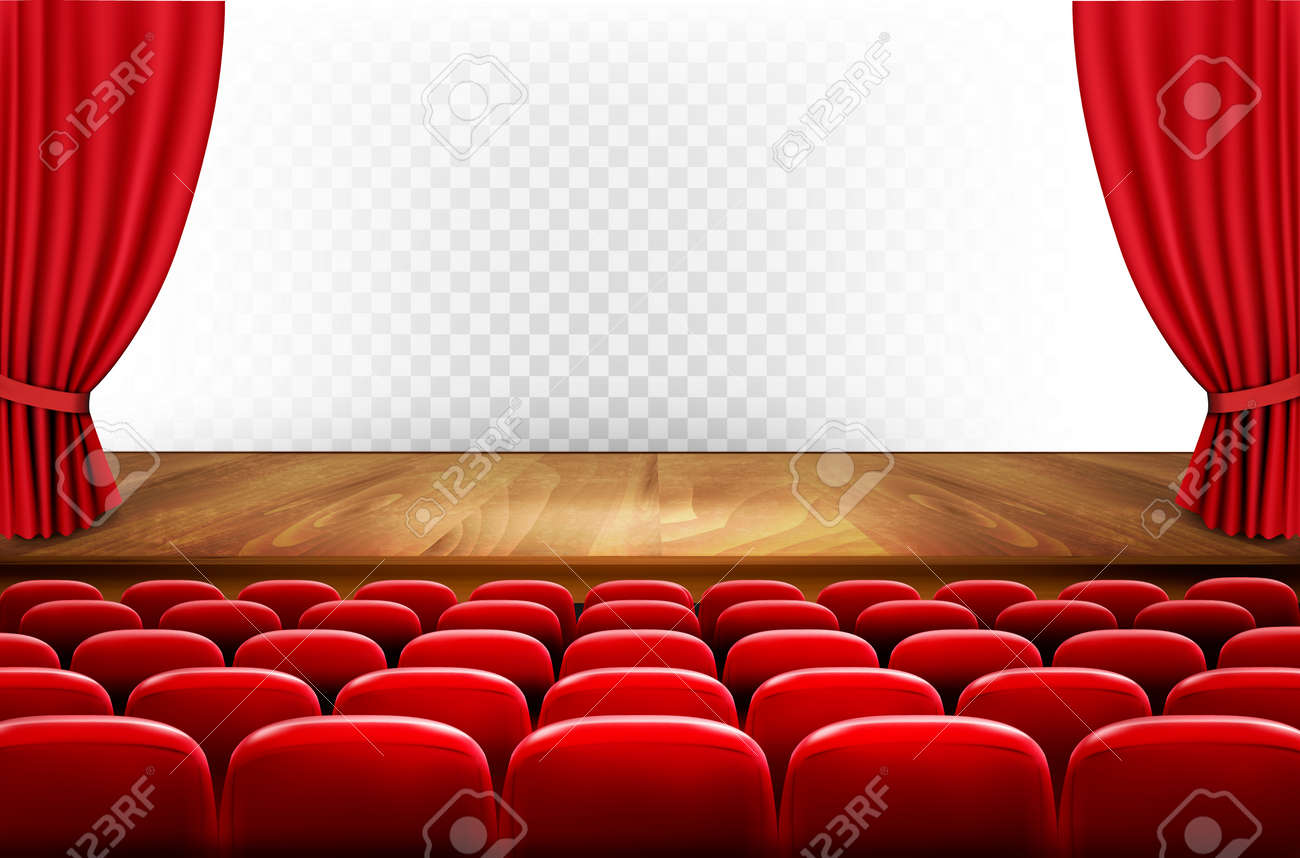 Rows Of Red Cinema Or Theater Seats In Front Of Transparent Background Royalty Free Cliparts Vectors And Stock Illustration Image 77743246