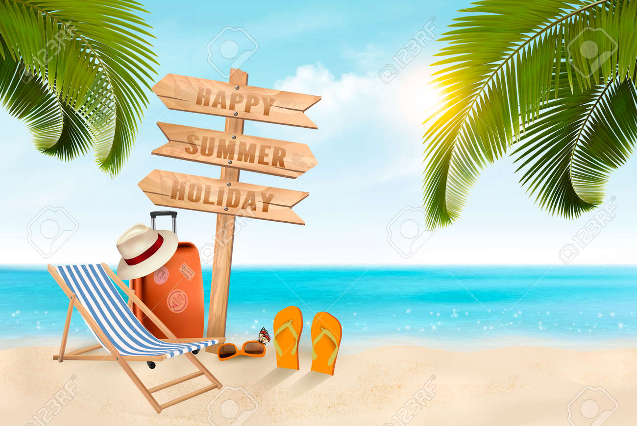 e03ae58837b42 Summer Vacation Background