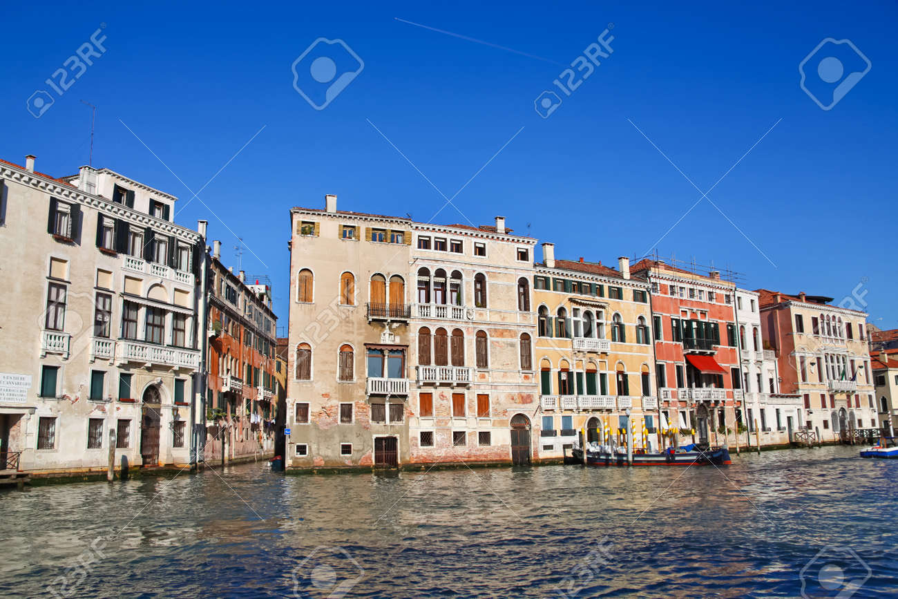 Venice Italy Architecture famous grand canal in venice, italy. beautiful old architecture