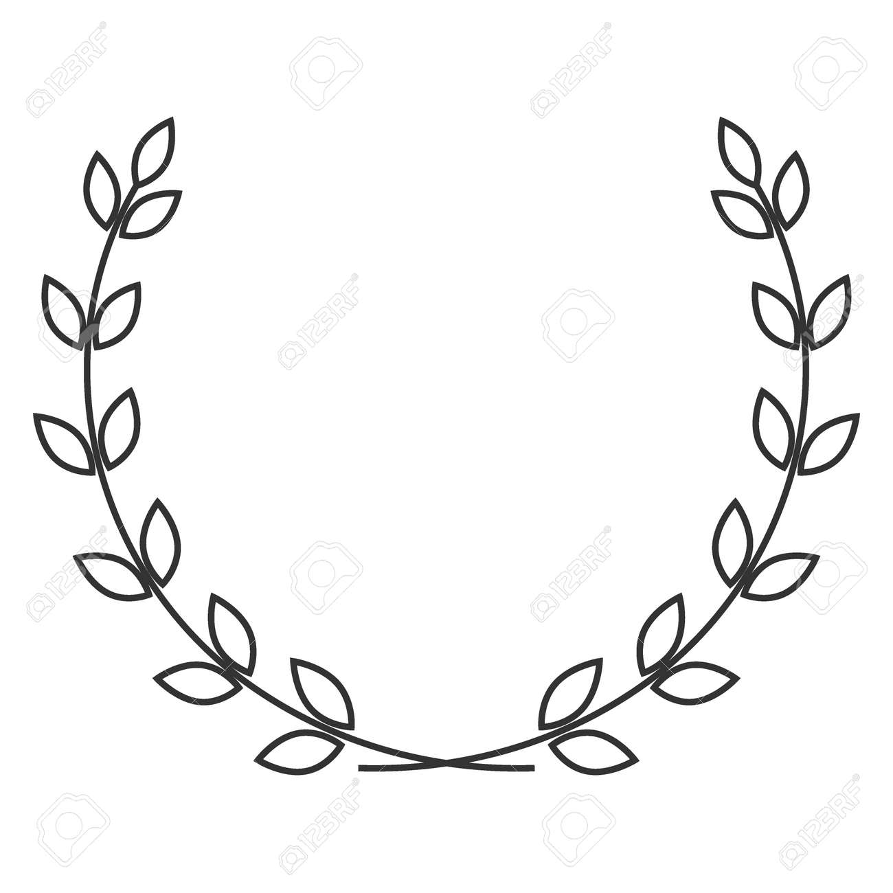 A laurel wreath symbol of victory and achievement design a laurel wreath symbol of victory and achievement design element for construction of medals buycottarizona Image collections