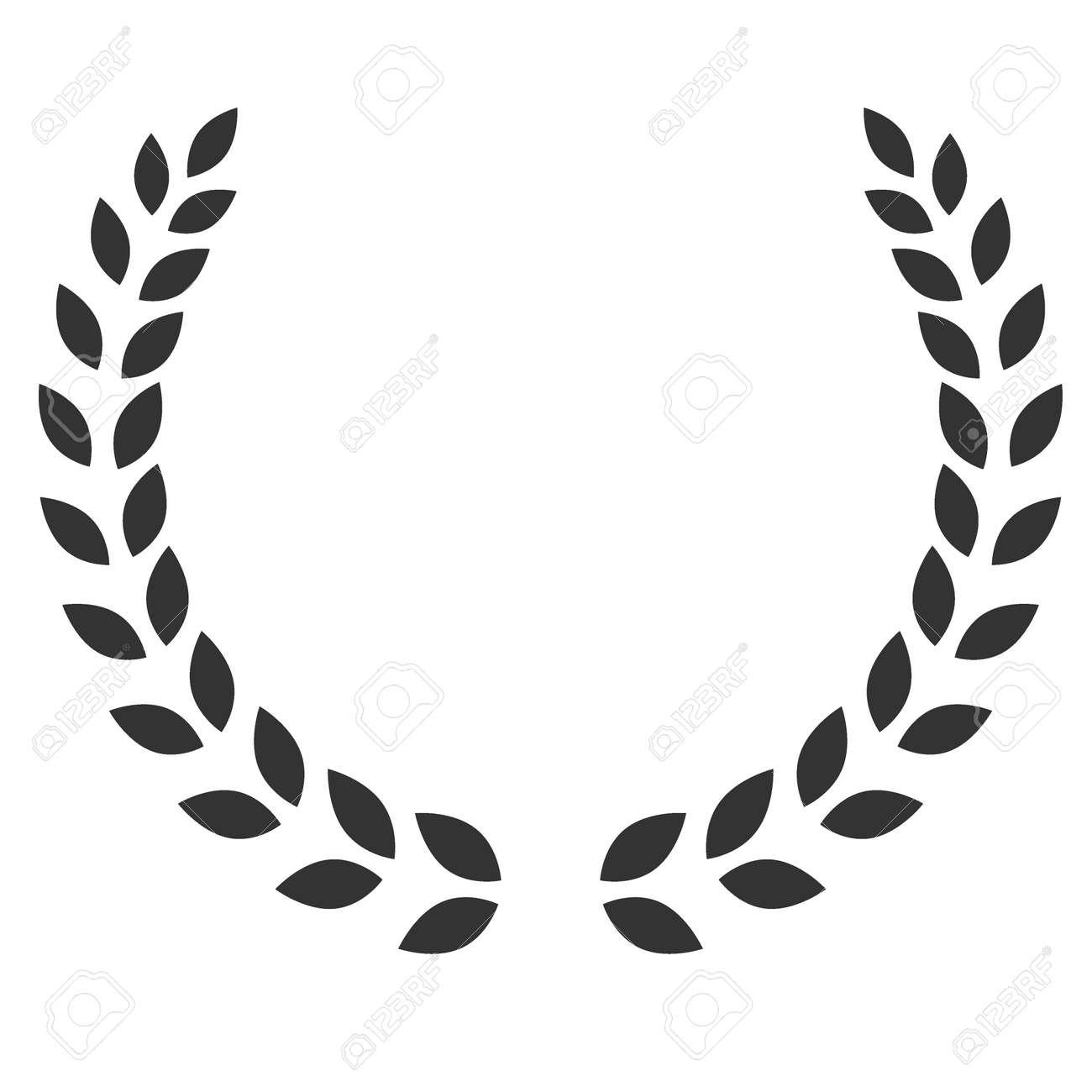 A Laurel Wreath Symbol Of Victory And Achievement Design Element