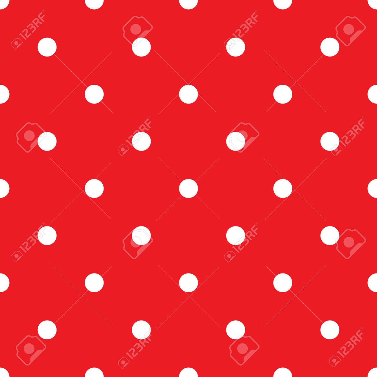 small polka dot seamless pattern abstract fashion red and white