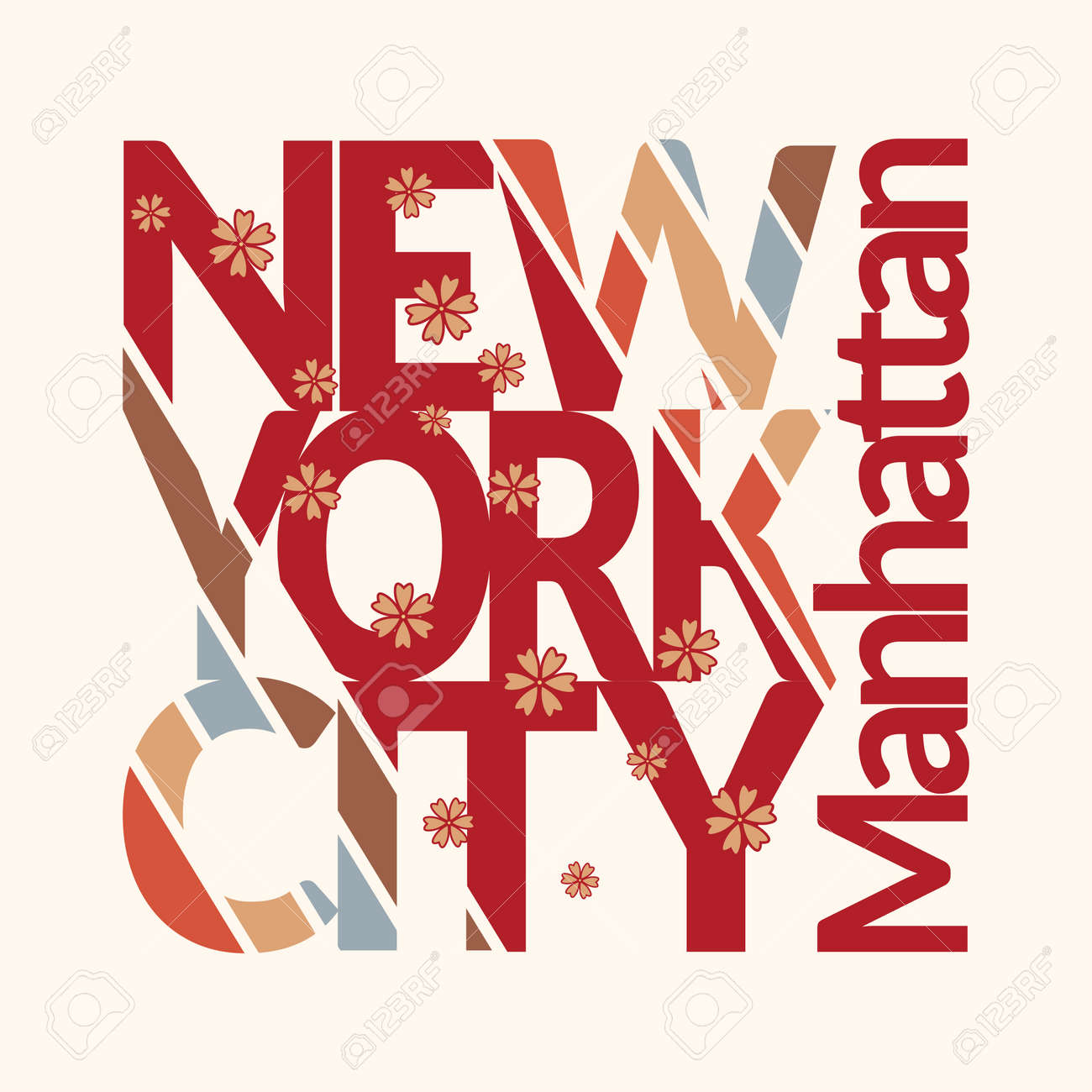 New York City Typography Graphics T Shirt Printing Design